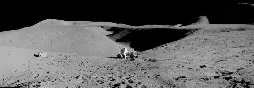 Dave Scott and lunar rover
